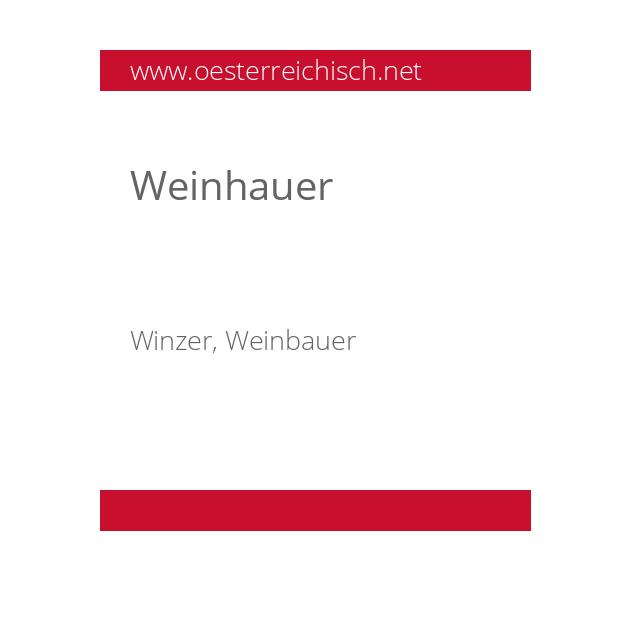 Weinhauer