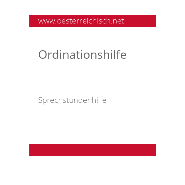 Ordinationshilfe