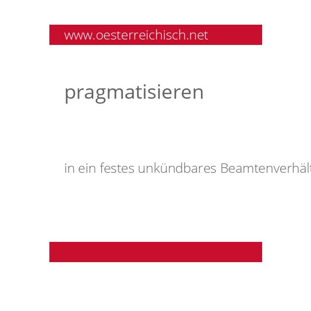 pragmatisieren