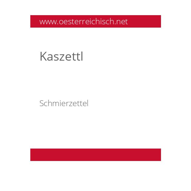 Kaszettl