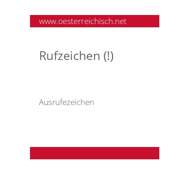 Rufzeichen (!)