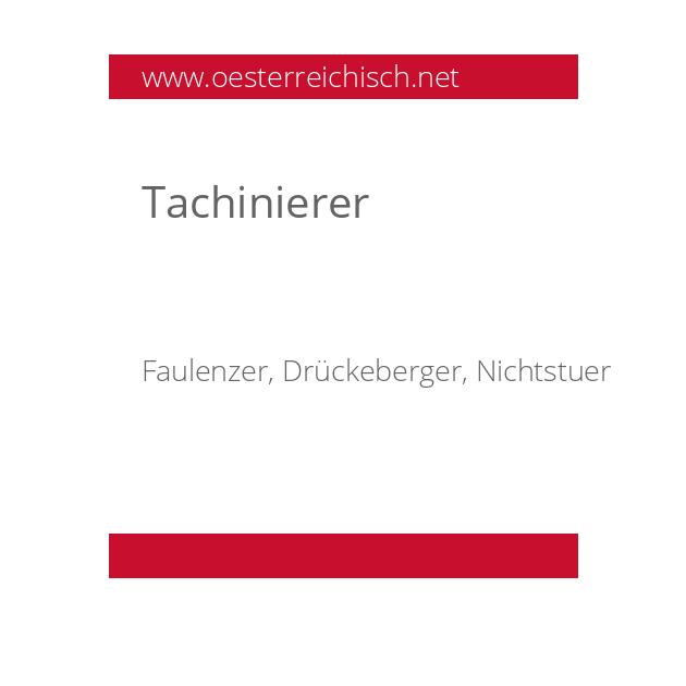 Tachinierer