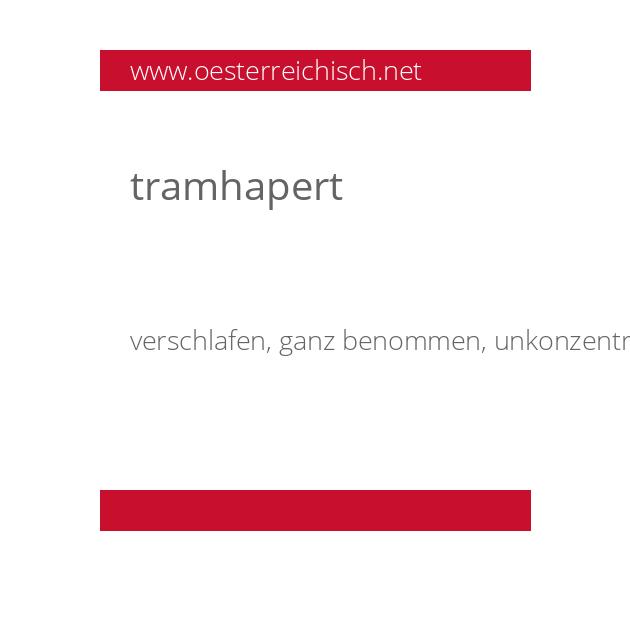 tramhapert