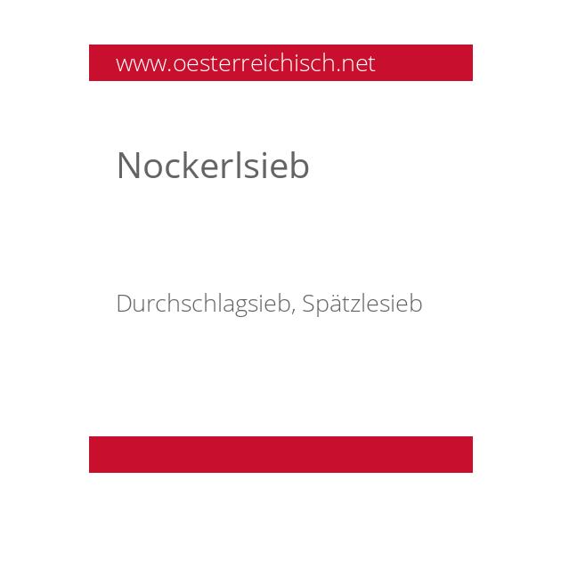 Nockerlsieb