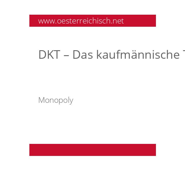 DKT – Das kaufmännische Talent