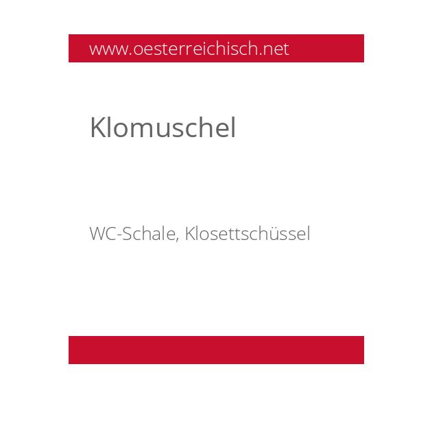 Klomuschel