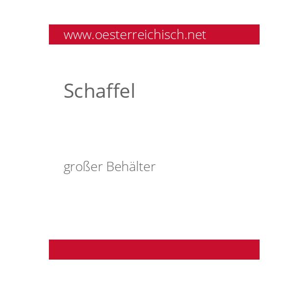 Schaffel