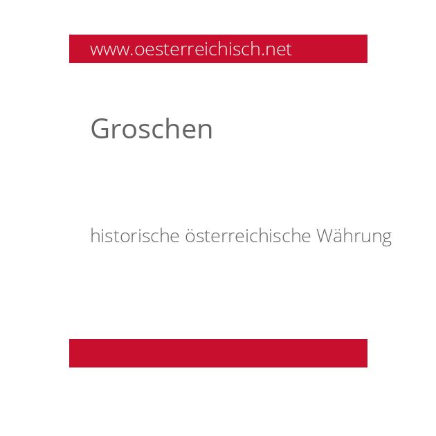 Groschen