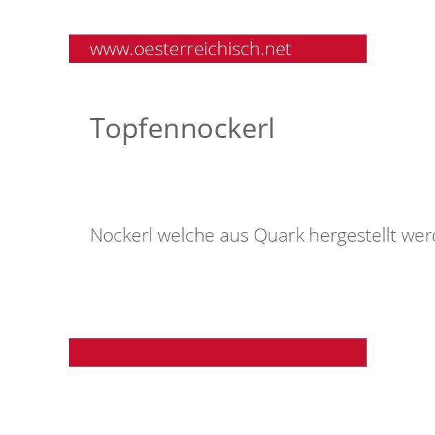 Topfennockerl