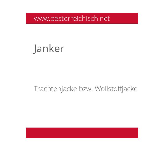 Janker