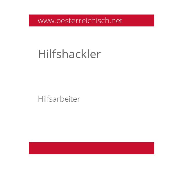 Hilfshackler