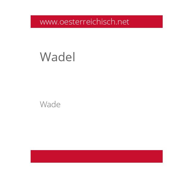 Wadel