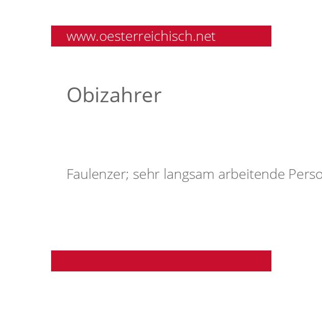 Obizahrer