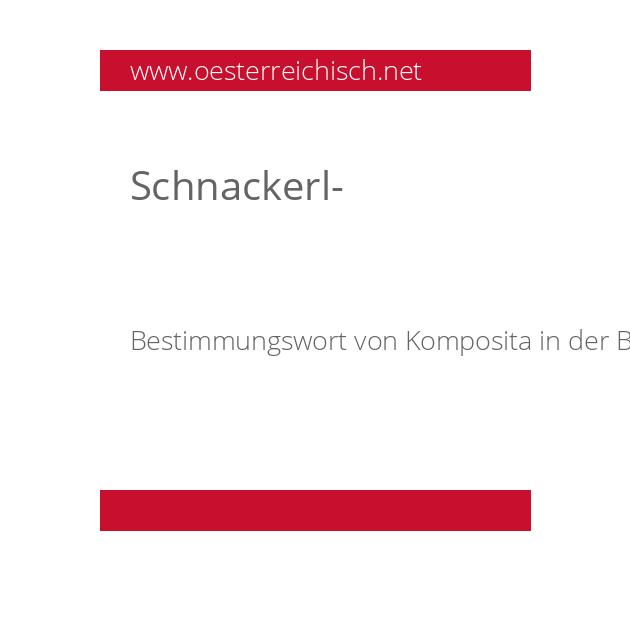 Schnackerl-