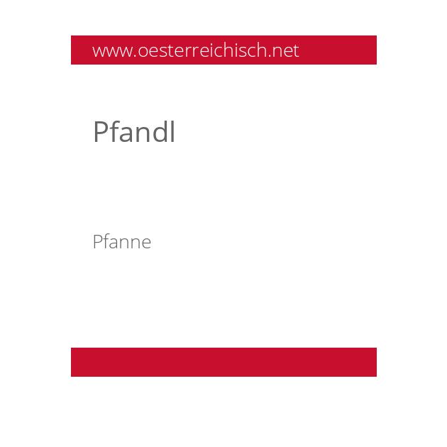 Pfandl