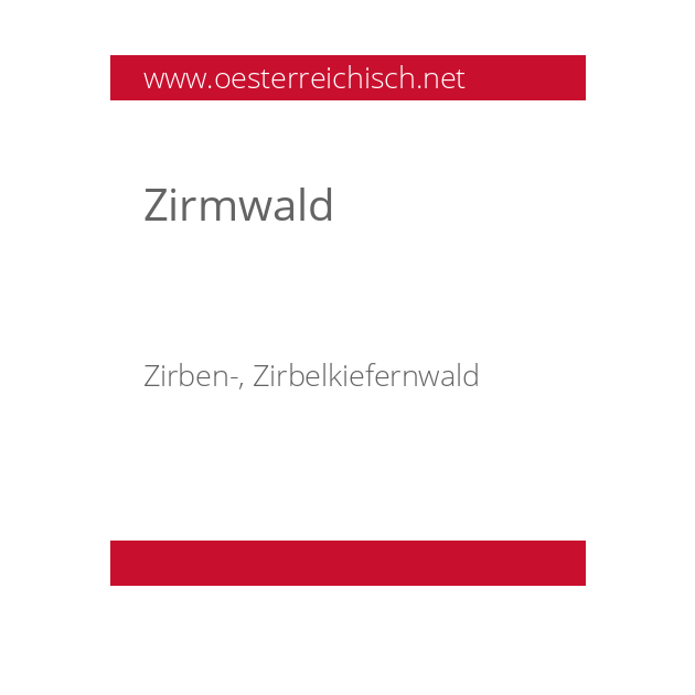 Zirmwald