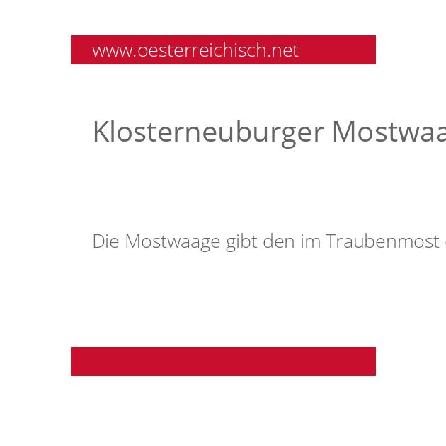 Klosterneuburger Mostwaage (KMW)