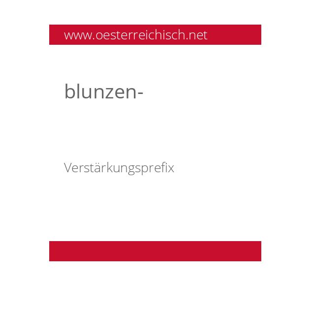 blunzen-