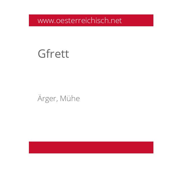 Gfrett