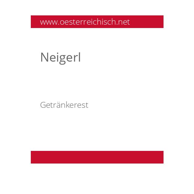Neigerl