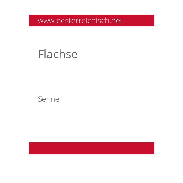 Flachse