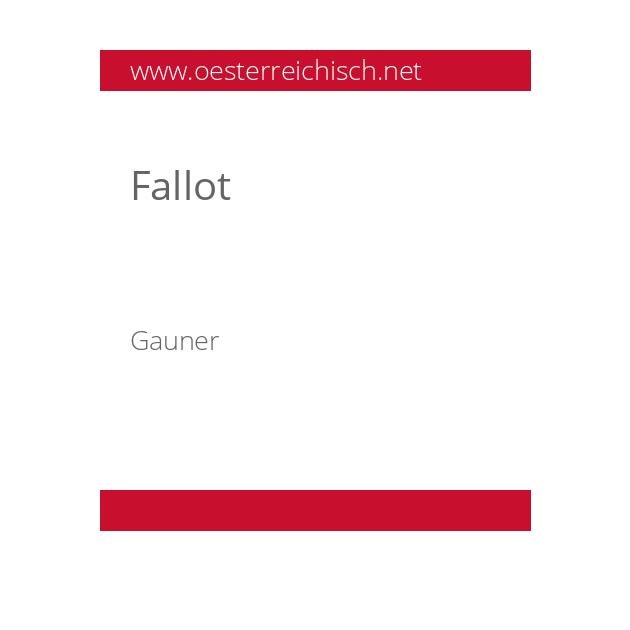 Fallot