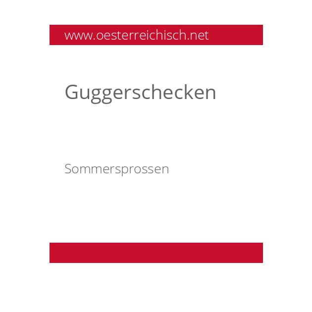Guggerschecken