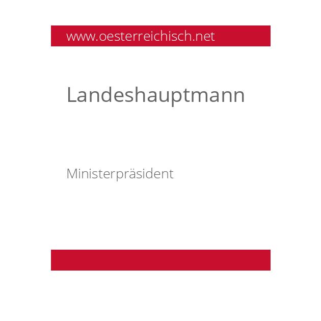Landeshauptmann