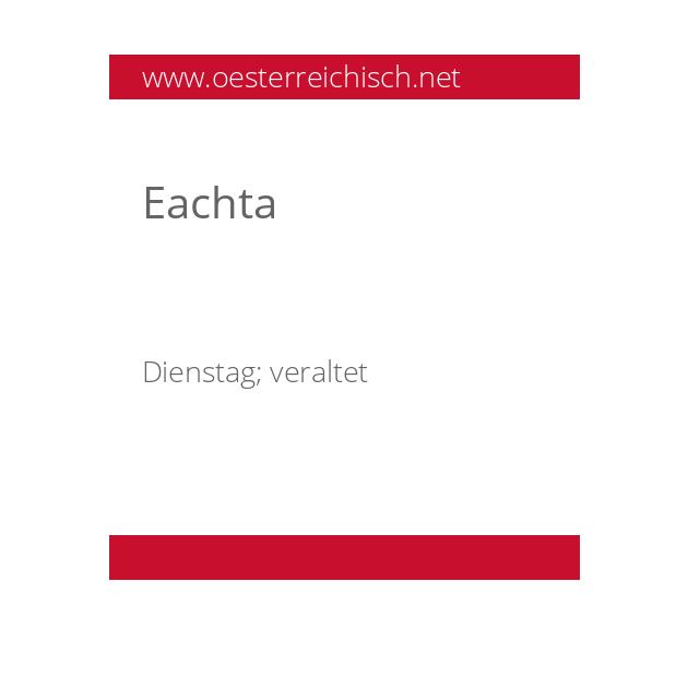 Eachta