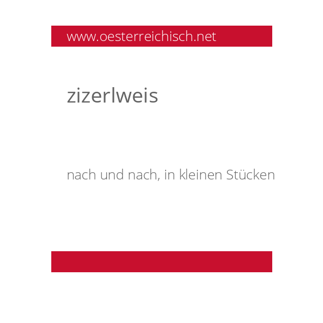 zizerlweis