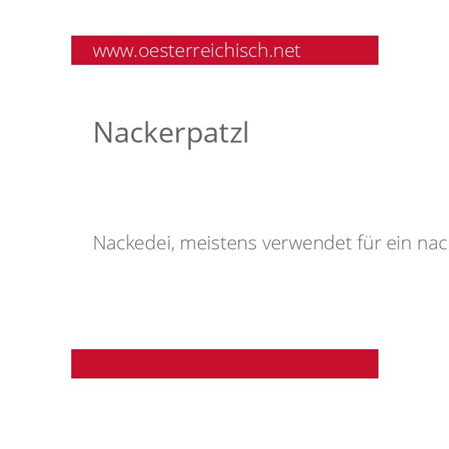 Nackerpatzl