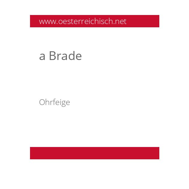 a Brade