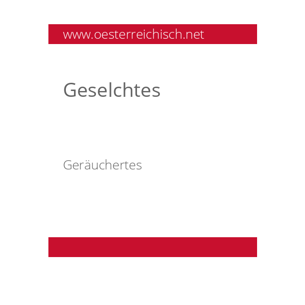 Geselchtes