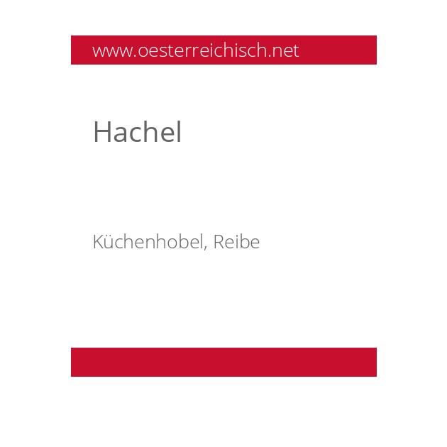 Hachel