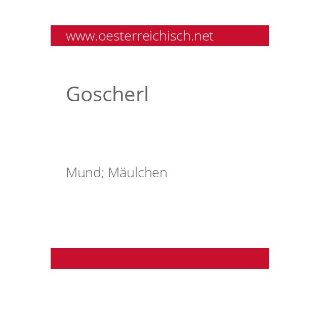 Goscherl