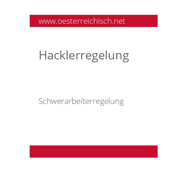 Hacklerregelung