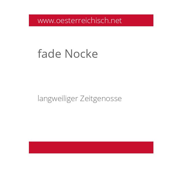 fade Nocke