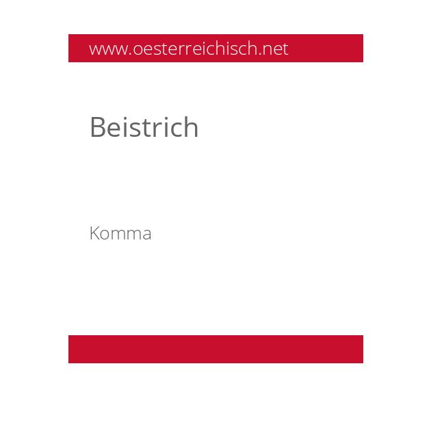 Beistrich