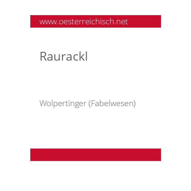 Raurackl