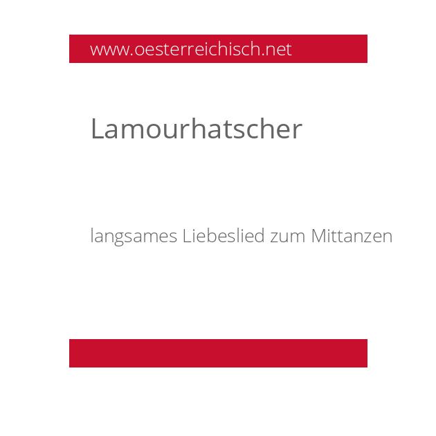 Lamourhatscher
