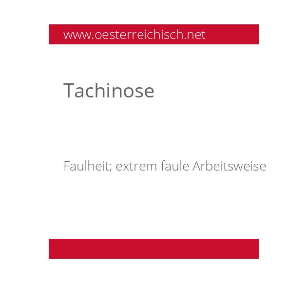 Tachinose