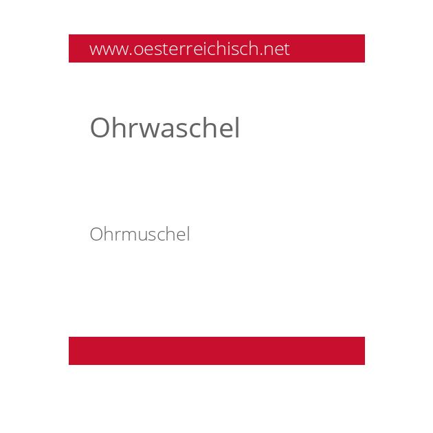 Ohrwaschel