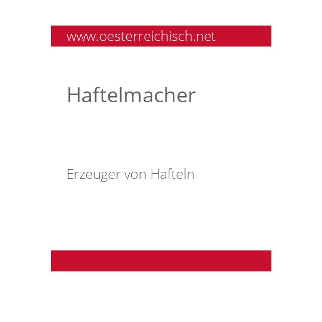 Haftelmacher